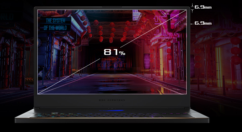 ASUS Zephyrus S (GX701GX) comes with the 144 hz display the is a very nice display for play game on 1080p