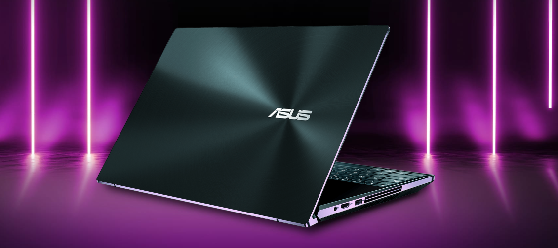 ASUS ZenBook Pro duo dual-screen laptop with 4k display